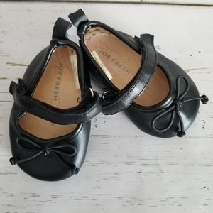 Black Ballet Flats with Strap